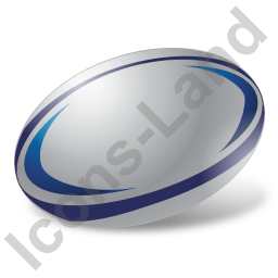 Rugby Union Ball Icon, PNG/ICO, 256x256