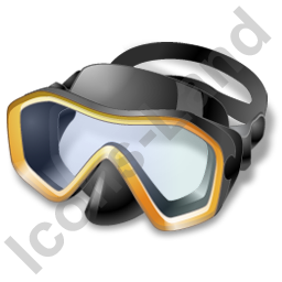 Snorkeling Diving Mask Icon, PNG/ICO, 256x256