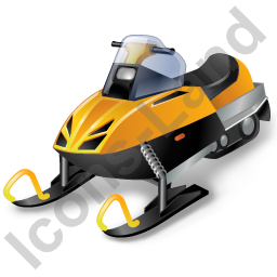 Snowmobile Racing Snowmobile Icon