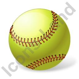Softball Ball Icon, PNG/ICO, 256x256