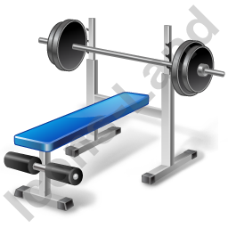 Weight Training Bench Icon