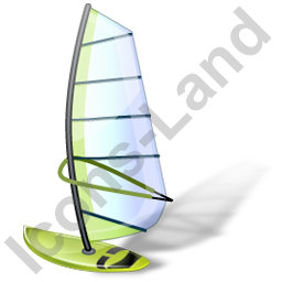 Windsurfing Windsurfboard Green Icon