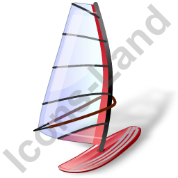 Windsurfing Windsurfboard Red Icon, PNG/ICO, 256x256