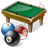 Billiard Table Balls Icon, PNG/ICO, 48x48