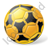 Futsal Ball Yellow Icon, PNG/ICO, 48x48