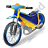 Moto Racing Speedway Motorcycle Icon, PNG/ICO, 48x48