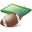 American Football Field Ball Icon