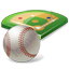 Baseball Field Ball Icon, PNG/ICO, 64x64