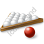Billiard Balls Red White Icon
