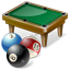 Billiard Table Balls Icon, PNG/ICO, 64x64