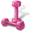Fitness Dumbells Pink Icon