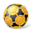 Futsal Ball Yellow Icon, PNG/ICO, 64x64