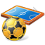 Futsal Pitch Ball Icon, PNG/ICO, 64x64