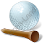 Golf Tee Ball Icon, PNG/ICO, 64x64
