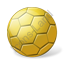 Handball Ball Yellow Icon