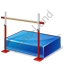 Jumping High Jump Crossbar Icon