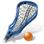 Lacrosse Stick Ball Icon, PNG/ICO, 64x64