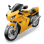 Moto Racing RoadRacing Motorcycle Icon