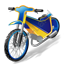 Moto Racing Speedway Motorcycle Icon, PNG/ICO, 64x64