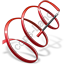 Rhythmic Gymnastics Ribbon Icon