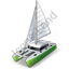 Sailing Catamaran Icon