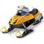 Snowmobile Racing Snowmobile Icon, PNG/ICO, 64x64