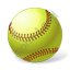 Softball Ball Icon, PNG/ICO, 64x64
