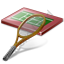 Tennis Court Racket Icon
