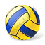 Water Polo Ball Yellow Blue Icon