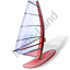 Windsurfing Windsurfboard Red Icon, PNG/ICO, 64x64