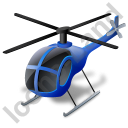 Helicopter Blue Icon