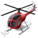 Helicopter Red Icon, PNG/ICO, 128x128