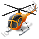 Helicopter Yellow Icon, PNG/ICO, 128x128