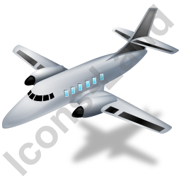 Airplane Black Icon