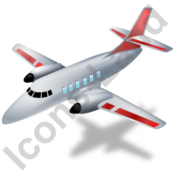 Airplane Red Icon