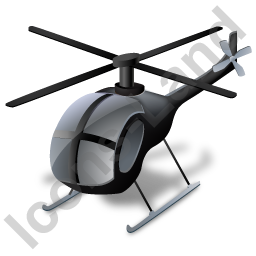 Helicopter Black Icon, PNG/ICO, 256x256