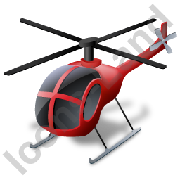 Helicopter Red Icon, PNG/ICO, 256x256