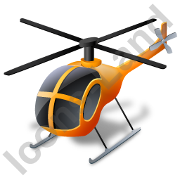 Helicopter Yellow Icon, PNG/ICO, 256x256
