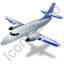 Airplane Blue Icon