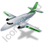 Airplane Green Icon