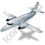 Airplane Grey Icon