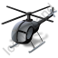 Helicopter Black Icon