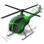 Helicopter Green Icon