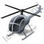 Helicopter Grey Icon