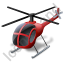 Helicopter Red Icon, PNG/ICO, 64x64