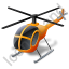 Helicopter Yellow Icon, PNG/ICO, 64x64