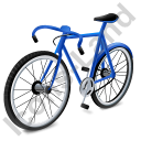 Bicycle Blue Icon, PNG/ICO, 128x128
