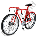 Bicycle Red Icon