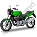 Cruiser Motorcycle Green Icon