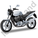 Cruiser Motorcycle Grey Icon